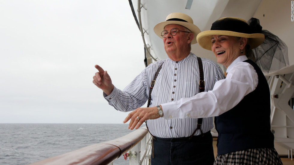 Connie and Tom Jeffers of Margaretville, New York, recently became interested in the Titanic when they saw an exhibit in Las Vegas, but they've been lifelong history buffs.