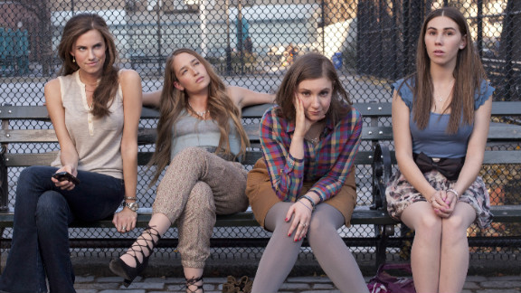 From left to right: Allison Williams, Jemima Kirke, Lena Dunham and Zosia Mamet star in HBO