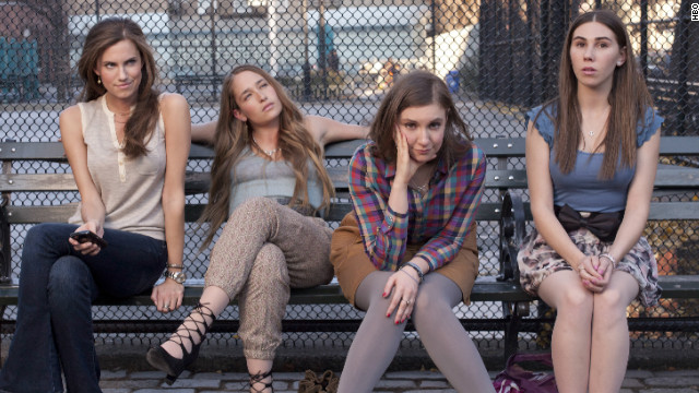"From left to right: Allison Williams, Jemima Kirke, Lena Dunham and Zosia Mamet star in HBO's ""Girls."""
