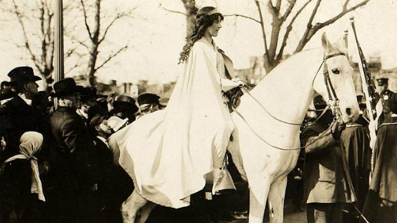 """Inez Boissevain is one of the women detailed within """"Secret Heroes"""" as the """"American Joan of Arc."""" Boissevain was a suffragist, labor lawyer, WWI correspondent and public speaker."""
