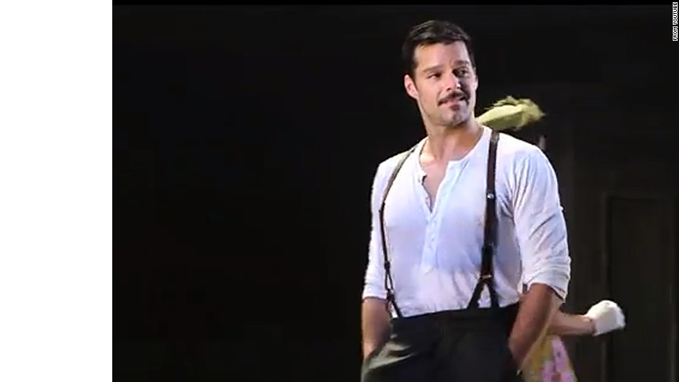 "Ricky Martin plays Che in the 2012 Broadway revival of ""Evita."""