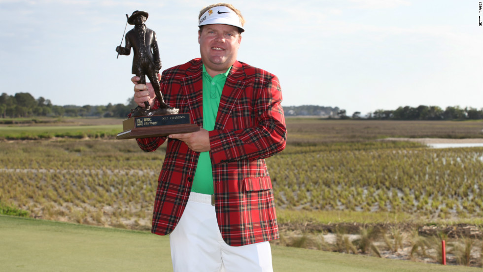 Carl Pettersson of Sweden won the RBC Heritage by five shots from Zach Johnson for his fifth PGA Tour title.