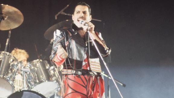 Queen frontman Freddie Mercury died in 1991. He was 45.