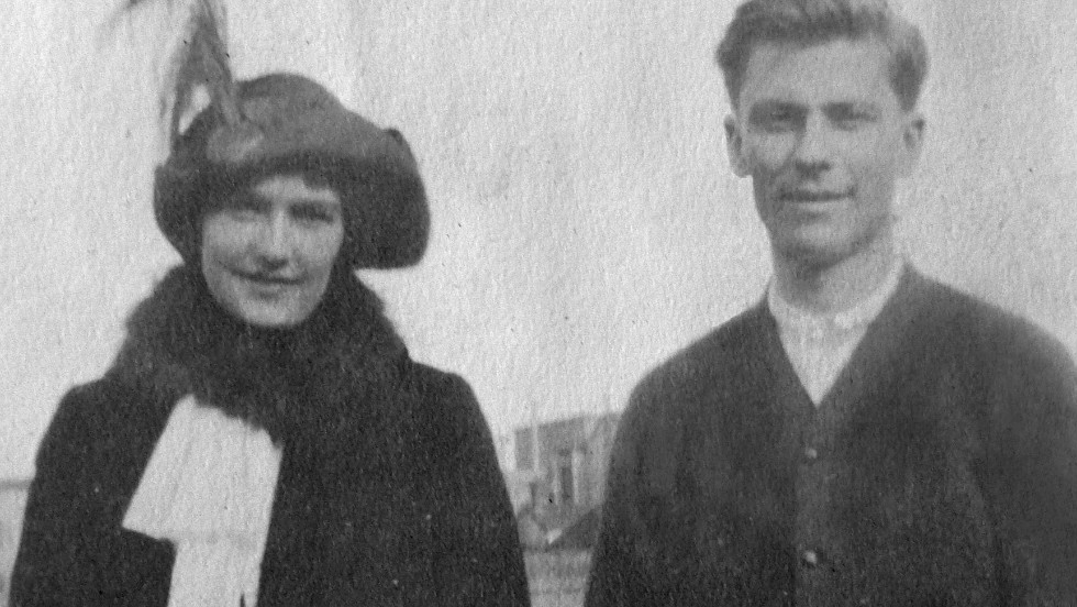 Behr and his future wife, maiden name Helen Newsom, were first-class passengers on the Titanic.