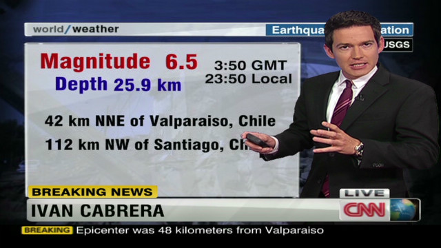 Quake rattles Chile, no tsunami warnings