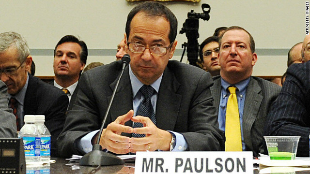 John Alfred Paulson, president of Paulson & Co., Inc, attends the House Oversight and Government Reform Committee at a Capitol Hill hearing on the topic of 'The Regulation of Hedge Funds' on November 13, 2008, in Washington, DC.