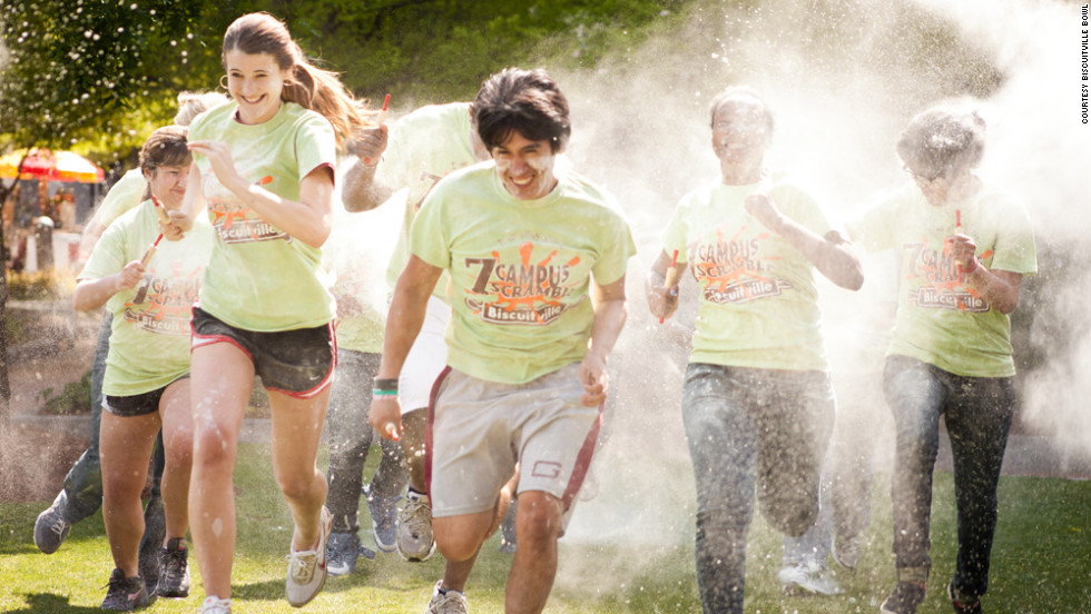 "Greensboro, North Carolina, is home to the Biscuitville Bowl's <a href=""http://biscuitvillebowl.com/obstacles/"" target=""_blank"">7 Campus Scramble</a>. The 5K race includes five Southern-breakfast themed obstacles -- the Sweet Tea Tumble, the Grit-Iron Tires, the Flour Shower, the Buttermilk Slip n' Slide and the Jelly Belly crawl."