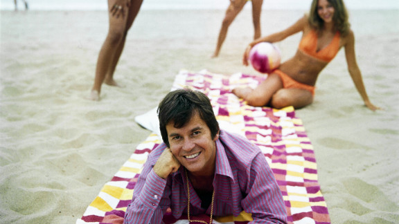 Clark on the beach in 1973.