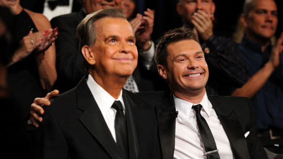 Dick Clark and Ryan Seacrest attend the 37th Annual Daytime Entertainment Emmy Awards in Las Vegas on June 27, 2010.