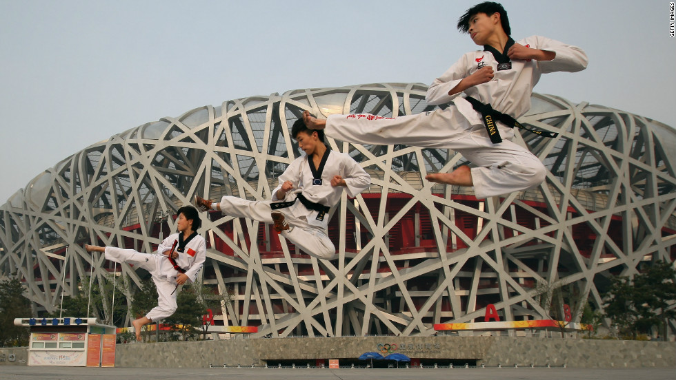 China, which hosted the previous Olympics in 2008, also marked the milestone as athletes performed outside the Bird's Nest stadium in Beijing.