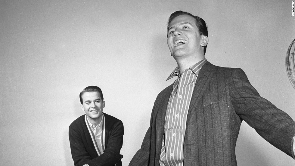 Clark and Pat Boone circa 1958
