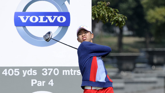 Guan Tian-Lang, 13, made history as the youngest player at a European Tour event when he teed off at his home China Open in April 2012.