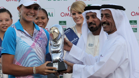 Thompson is the youngest player to win on the European Ladies