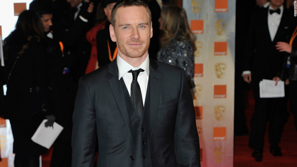 Michael Fassbender has also joined the Green Carpet Challenge, wearing a recycled wool suit to this year's British Academy Awards.