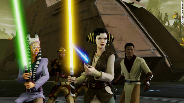 "The animation for ""Kinect Star Wars"" looks somewhat like what you'd see in a 'Star Wars: Clone Wars' cartoon."