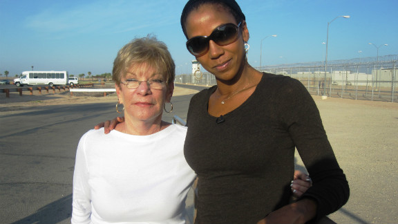 Actress Holly Robinson Peete visits a prison  with Carolyn LeCroy to see Messages Project in action.