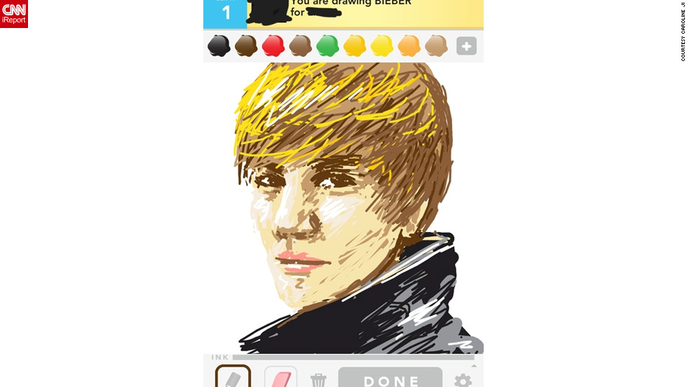 How skilled are you at Draw Something? Let's find out. Here are portraits of 20 celebrities, all by Draw Something users. See how many you can guess!First up: This singer, famous for his swooshing hair, was drawn by 23-year-old Caroline Ji.