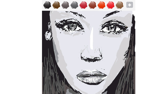 This model, drawn by Tan Dawei Joel, is also a TV host and media maven.