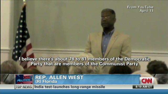 Rep. West avoids naming Communist reps