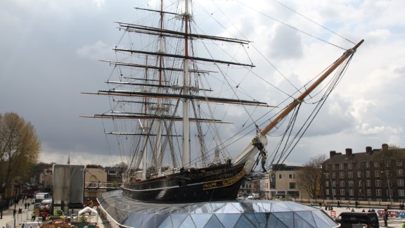 The newly-restored Cutty Sark in Greenwich, London, is set to open to the public on Thursday, April 26.