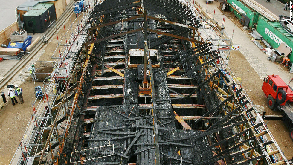 Image result for cutty sark fire