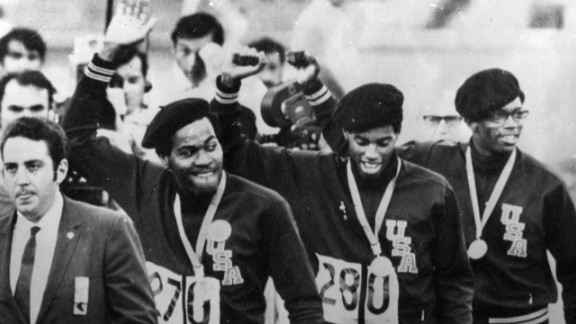 The U.S. track and field team arrived in Mexico eager to show their support to the civil rights movement back home. The world was watching to see what the team