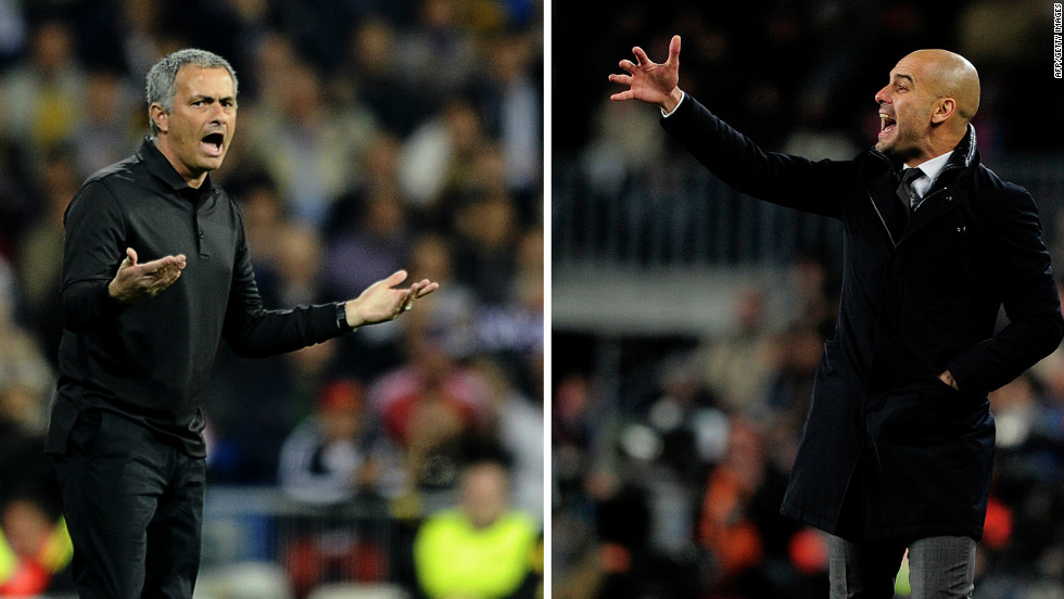 Real Madrid's Jose Mourinho (left) and his Barcelona counterpart Pepe Guardiola have won 31 trophies between them during their still young coaching careers.