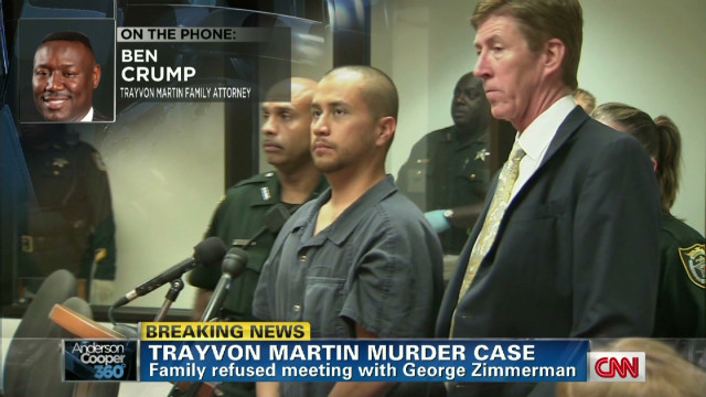 Martin family rejects Zimmerman meeting