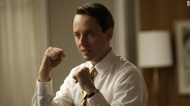 "Vincent Kartheiser plays Pete Campbell in a scene from the April 15 ""Mad Men"" episode."