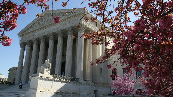 WASHINGTON, DC - MARCH 26: The exterior of the U.S. Supreme Court on March 26, 2012 in Washington, DC. Today the high court, which has set aside six hours over three days, will hear arguments over the constitutionality President Barack Obama