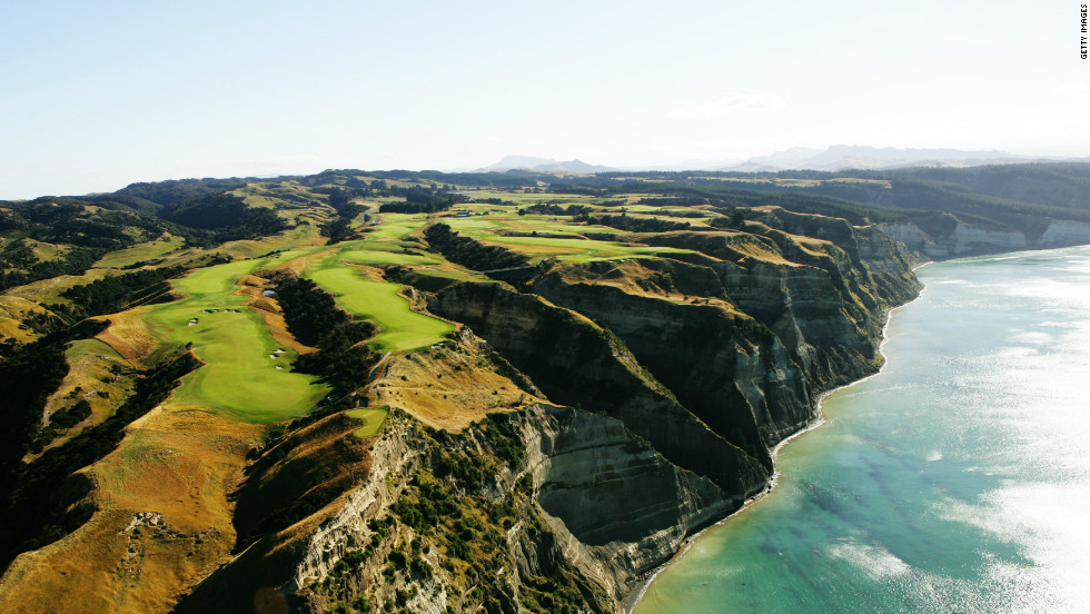 Located on New Zealand's North Island, the Cape Kidnappers Golf course is considered one of the most beautiful and enchanting in the world. High up on the cliffs with a picturesque view, players must negotiate the deep gullies and crevices between each hole.