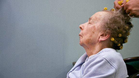 Before she passed away, Livia enjoyed daily hair salon visits while in hospice for Alzheimer's at a U.S. hospital.