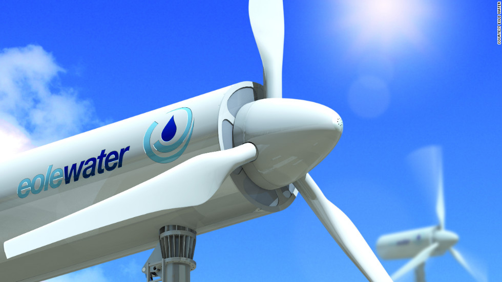 French company, Eole Water, has invented a wind turbine that can generate water from humid air.