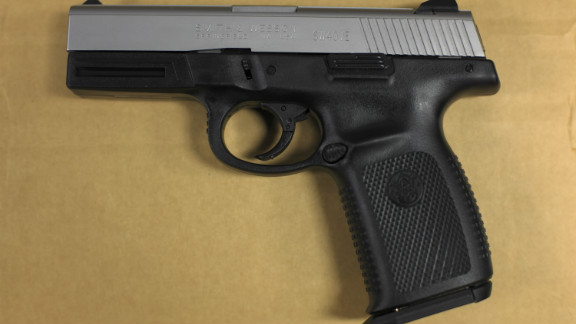 The shooter pulled out a .40 caliber Smith and Wesson, like this one, and shot Daniel Adkins after he swung his hands in the air. The shooter said he feared for his life.