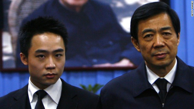 Bo Guagua (left) admitted he was worried about the events surrounding his family.