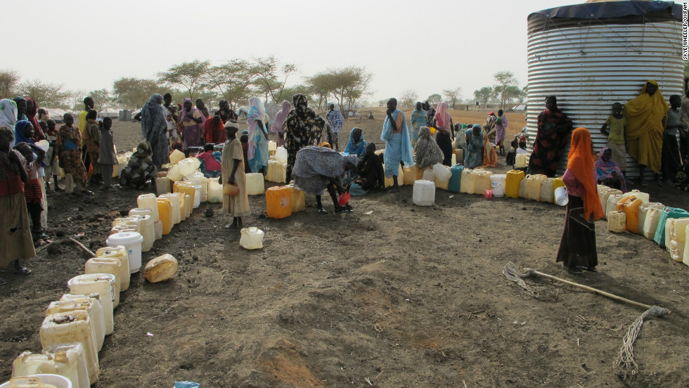 But the huge numbers of people seeking refuge at the camp has placed huge pressure on resources, including water.