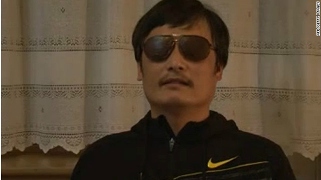 Where is blind Chinese activist Chen?