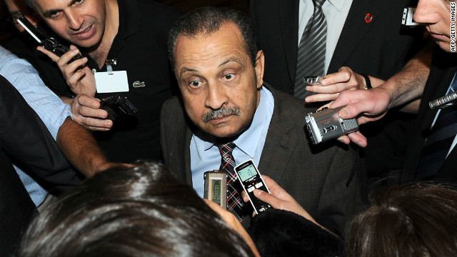A May 27, 2009, file photo shows Libyan Oil Minister and chairman of Libya's National Oil Corporation (NOC) Shukri Ghanem.