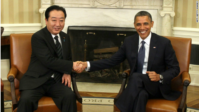 U.S. President Barack Obama and Japanese Prime Minister Yoshihiko Noda met in the Oval Office of the White House.