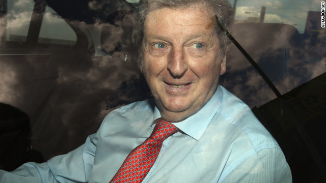 West Brom coach Roy Hodgson arrives at Wembley for talks about the vacant England job