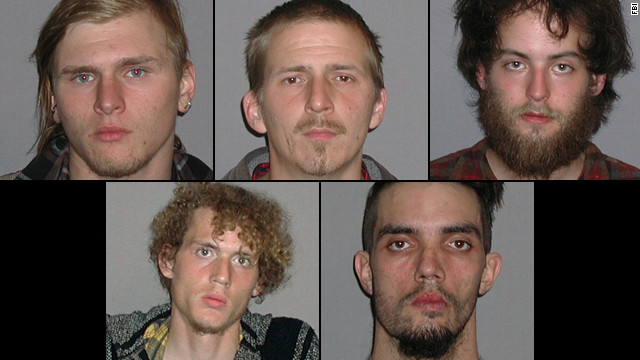 Suspects in Cleveland bomb plot: Brandon Baxter, Anthony Hayne, Connor Stevens, Joshua Stafford and Douglas Wright.