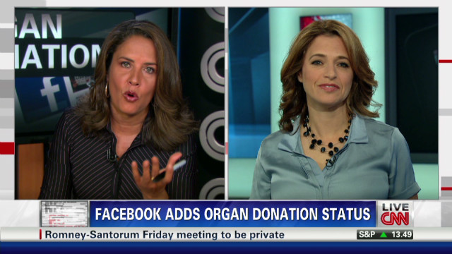 Facebook and organ donation status