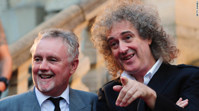 Roger Taylor (L) and Brian May of Queen, shown here in 2010.