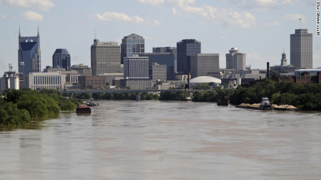 In May of 2010 more than 13 inches of rain fell over two days, causing the Cumberland River in Nashville, Tennessee, to flood.