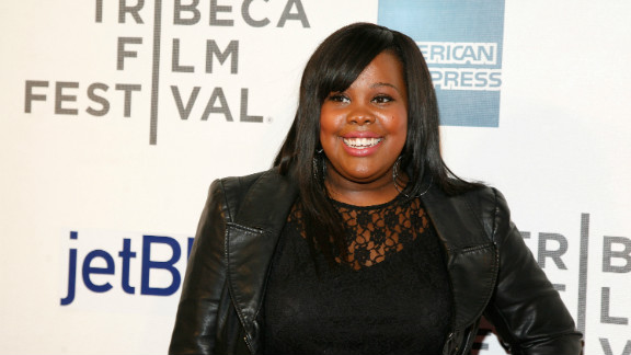 """Amber Riley attends """"Struck By Lightning"""" premiere during the 2012 Tribeca Film Festival in April."""