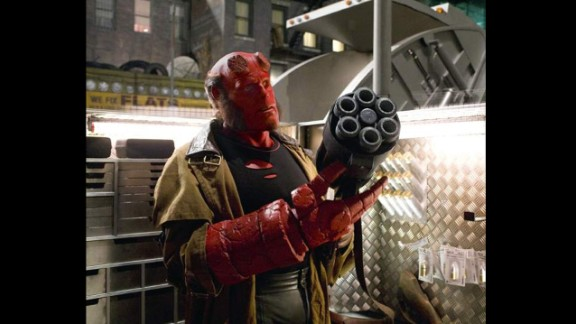 "Ron Perlman went red for Guillermo del Toro's ""Hellboy"" in 2004 and ""Hellboy II: The Golden Army"" in 2008."