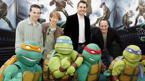"Mikey Kelley, James Arnold Taylor, Nolan North and Mitchell Whitfield voiced the Teenage Mutant Ninja Turtles in 2007's ""TMNT."""