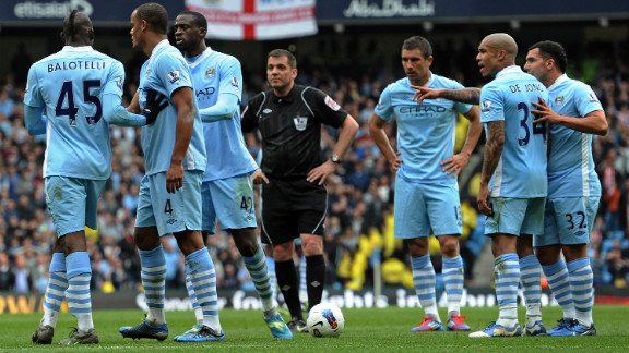 Manchester City moved up the rankings from 10th last year to 3rd in 2012, thanks to an average annual salary of $7.4 million for its players. It