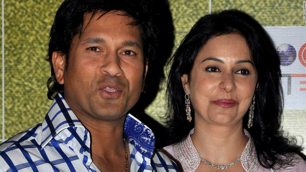 "Tendulkar, pictured with his wife Anjali, was honored at the ""Real Heroes Awards"" ceremony in Mumbai in March, run by the Reliance Foundation and CNN affiliate broadcaster CNN-IBN."