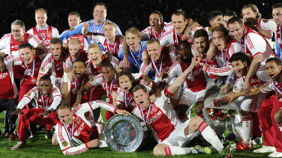 As Real triumphed in Spain, Ajax Amersterdam won the Dutch league for the second year in a row as coach Frank de Boer